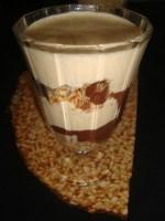 Verrine tiramisu aux crêpes, poires et chocolat