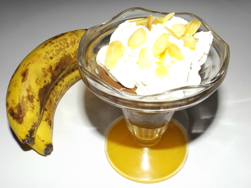 Verrine banane chocolat façon banana split