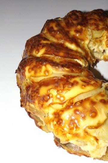 couronne de pommes de terre au pâté et au brie