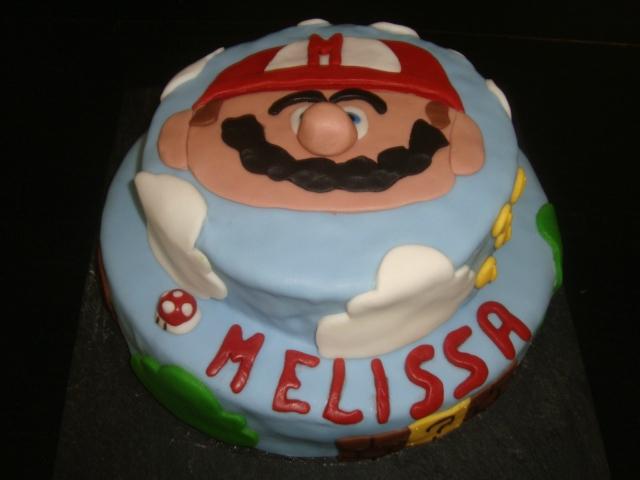 gâteau mario pour les 9ans de mélissa