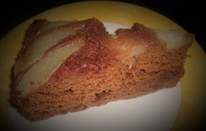 gâteau renversé aux poires et au chocolat2