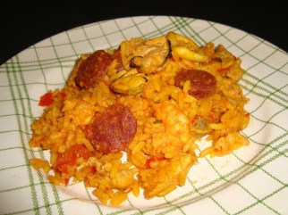 paella fruits de mer, chorizo et poulet2