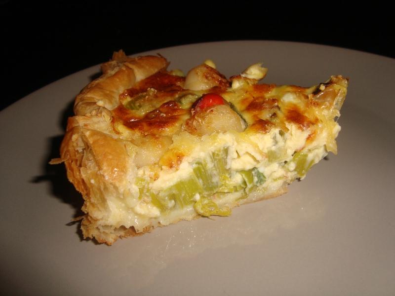 tarte aux poireaux et aux noix de saint-jacques1