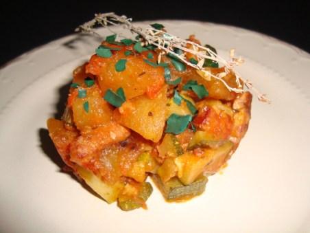 Poêlée de courgette et de pommes de terre2