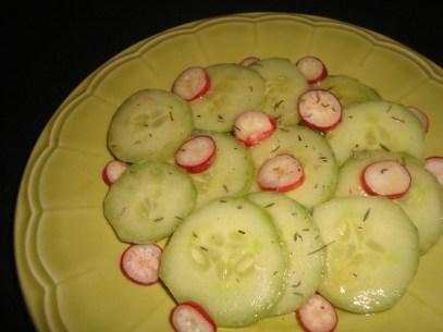 Salade de concombre et de radis2