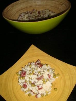 Salade de riz au saucisson2