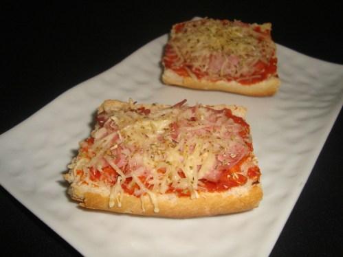 Tartines jambon gruyère façon pizza