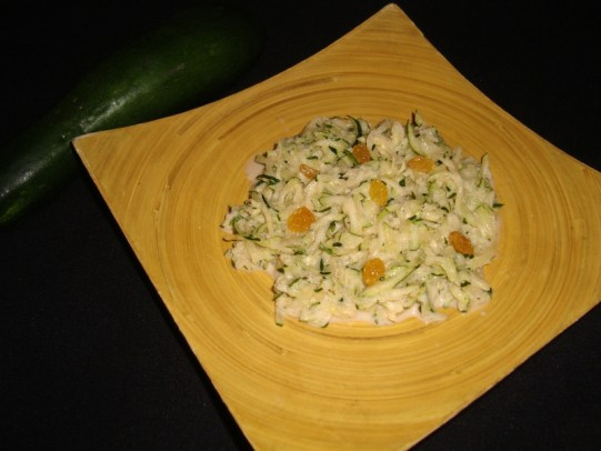 Salade de courgettes à lindienne