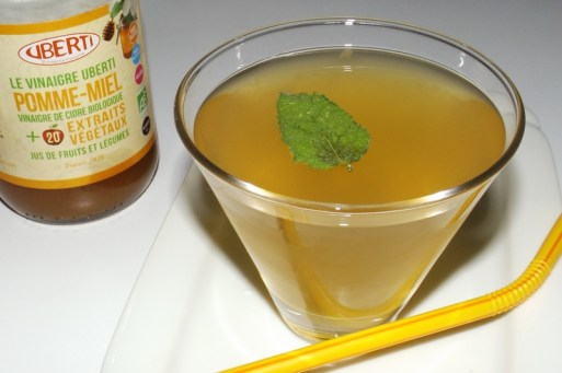 Thé glacé pamplemousse, vinaigre de cidre et menthe 2 (12 09 2020)