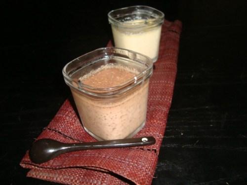 Crèmes au chocolat blanc ou chocolat noir à la multidélices