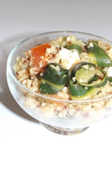 Quinoa et boulgour à la courgette et à la feta2