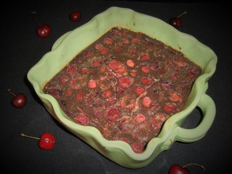 Clafoutis au chocolat et aux cerises (2)