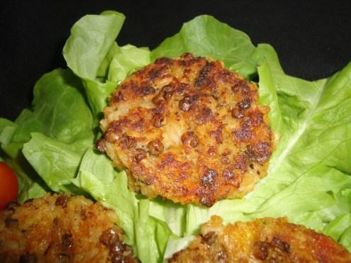 Galettes de céréales et de lentilles aux petits légumes ( courgette et tomate ) ( Recette Veggie )3