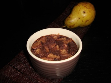 Mini clafoutis aux poires et au chocolat noir ( SANS GLUTEN )