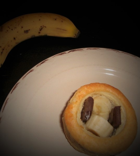 Vols au Vent sucrée ( banane chocolat ) (2)