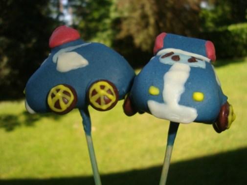 Cake pops robocar poli ( Poli et Ambre )4