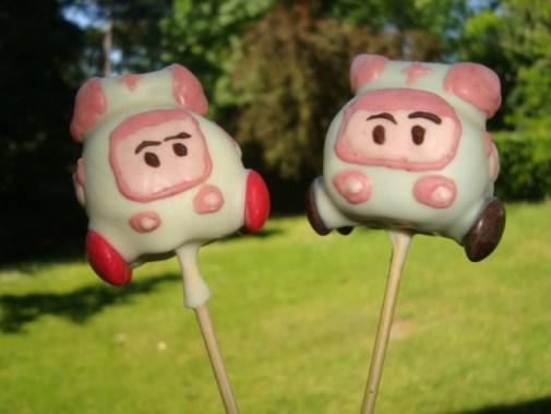 Cake pops robocar poli ( Poli et Ambre )6
