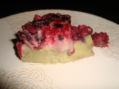 Clafoutis aux groseilles et au thé vert matcha2