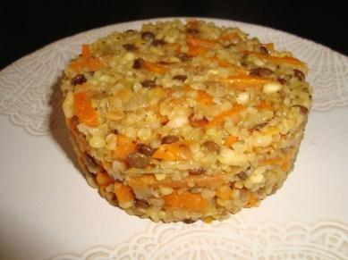 Dahl de céréales et lentilles aux carottes ( Recette Veggie )3