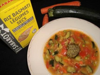 Minestrone au riz basmati et légumes secs ( recette Veggie )3