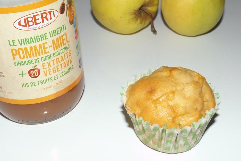 Muffins moelleux aux pommes et au vinaigre de cidre3