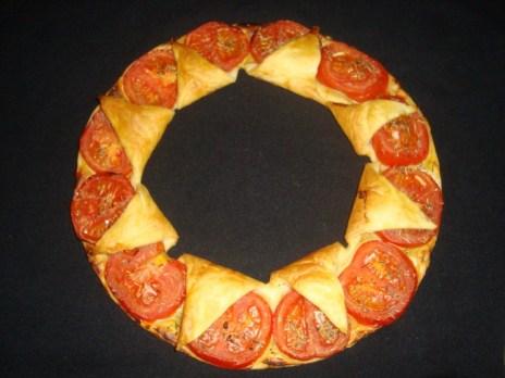 Tarte couronne tomates et moutarde2