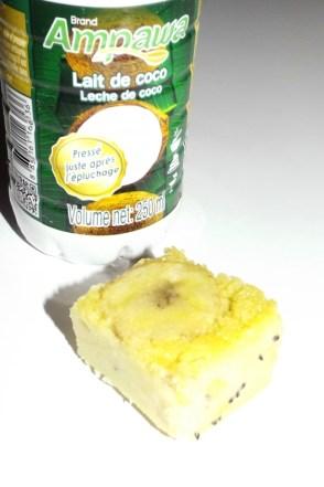 Clafoutis au lait de coco, à la banane et aux kiwis 2