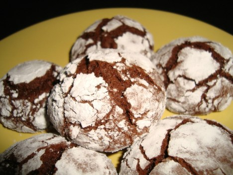 Crinkles ( biscuits craquelés ) au chocolat2