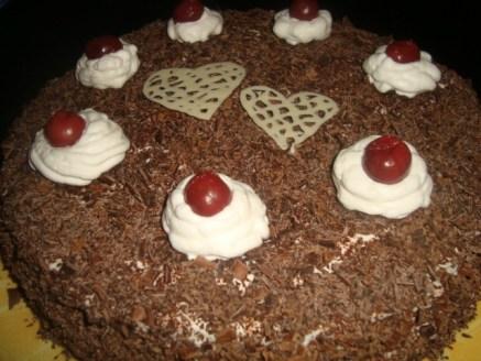 Forêt-noire ( gâteau pour 8-10 personnes )2