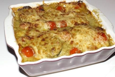 Lasagnes aux légumes et au pesto à l'ail des ours