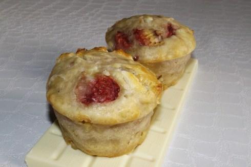 Muffins aux fraises et chocolat blanc
