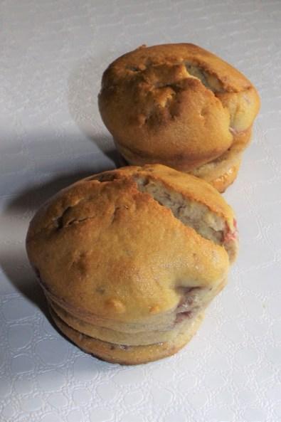 Muffins aux framboises et à la mascarpone
