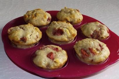 Muffins aux framboises et à la mascarpone4