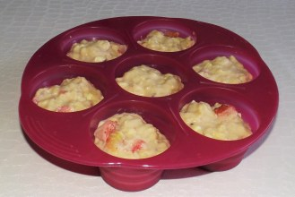 Muffins aux friases et chocolat blanc3