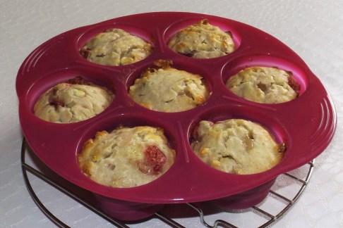 Muffins aux friases et chocolat blanc4