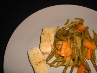 Poêlée de légumes verts et carottes à la sauce aigre-douce2