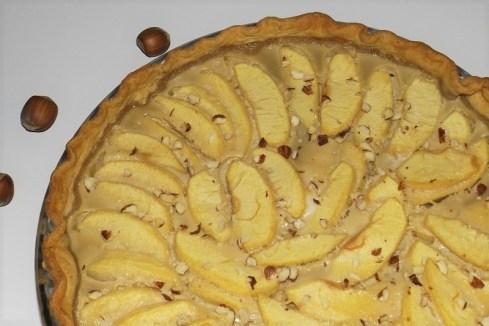Tarte aux pommes et noisettes2