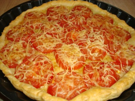 Tarte aux tomates et au sirop de Basilic2