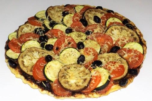 Tarte façon tian aux olives noires2