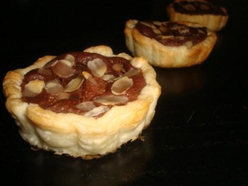 Tartelette poire-chocolat amandine