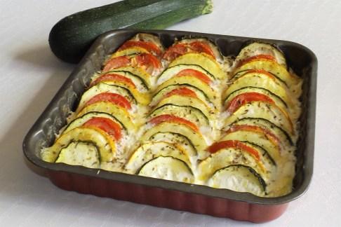 Tian de courgettes et tomates à la mozzarella2