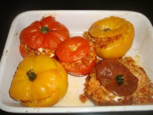 Tomates farcies à l'Ebly et à la mozzarella