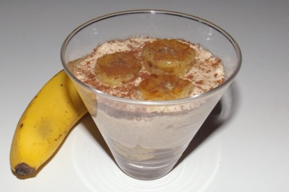 Verrine Bananarron ( banane et crème de marron )