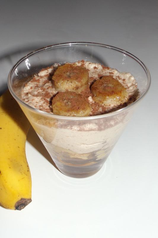 Verrine Bananarron ( banane et crème de marron )4