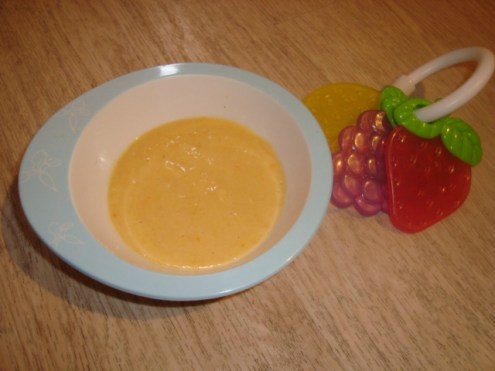 Soupe carotte poireau pomme de terre à la vache qui rit DES 6 MOIS