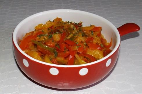 Wok de poivrons aux tomates CAJUN