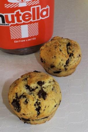 Muffins américains au coeur Nutella