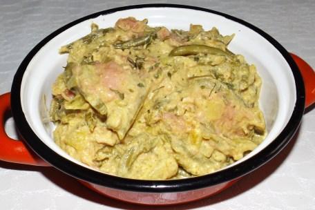 Curry au saumon aux haricots verts2
