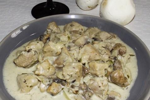 Sauté de dinde aux champignons (recette inratable express)