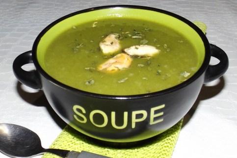 Soupe poireaux pommes de terre et moules WW